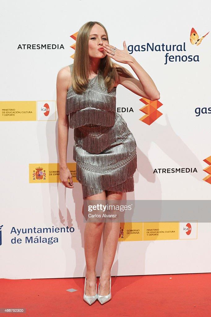 Spanish actress Esmeralda Moya attends the Malaga Film Festival cocktail presentation at Circulo de Bellas Artes on March 18, 2015 in Madrid, Spain.