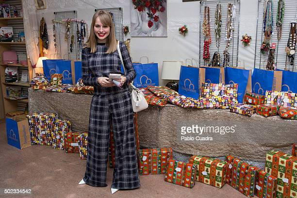 Spanish actress Esmeralda Moya attends the VI 'San Juan de Dios' charity market on December 23 2015 in Madrid Spain