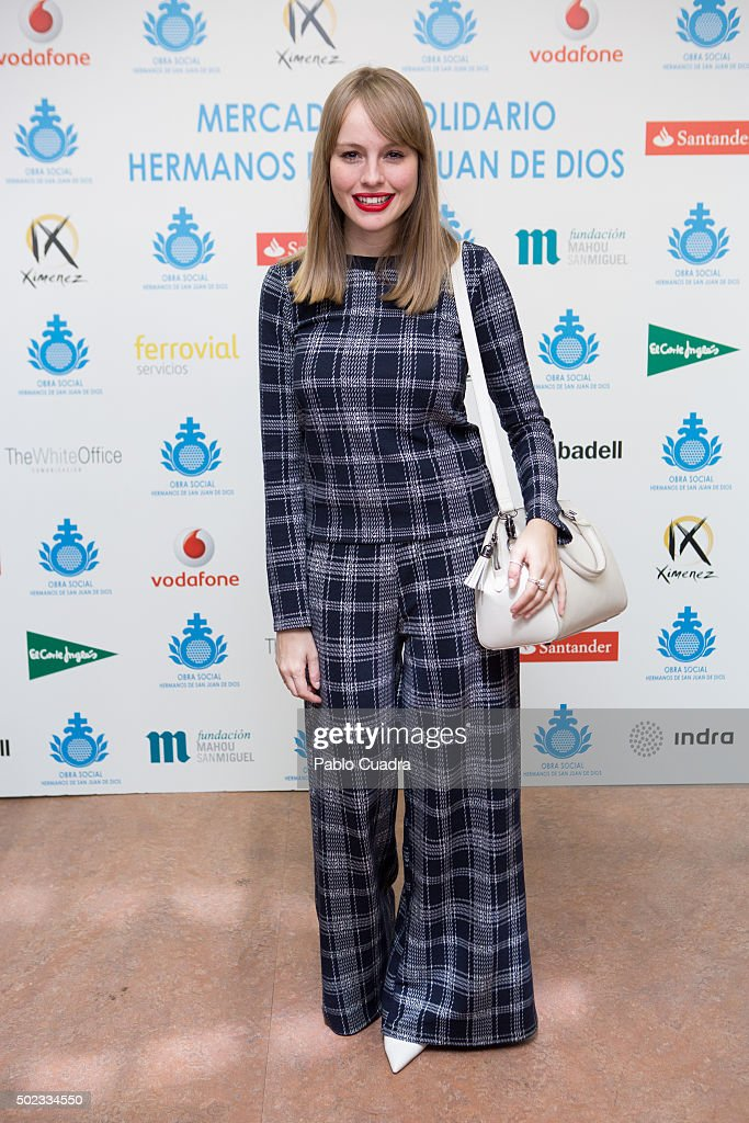 Spanish actress Esmeralda Moya attends the VI 'San Juan de Dios' charity market on December 23, 2015 in Madrid, Spain.