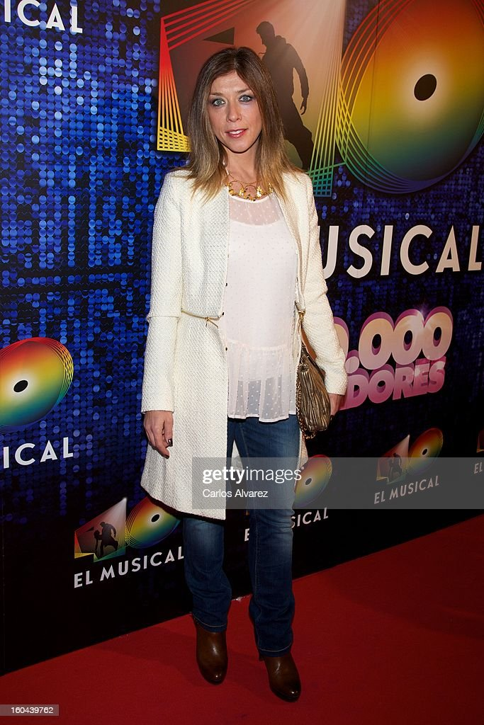 Spanish actress Eva Isanta attends '40 El Musical' premiere at the Rialto Theater on January 31, 2013 in Madrid, Spain.