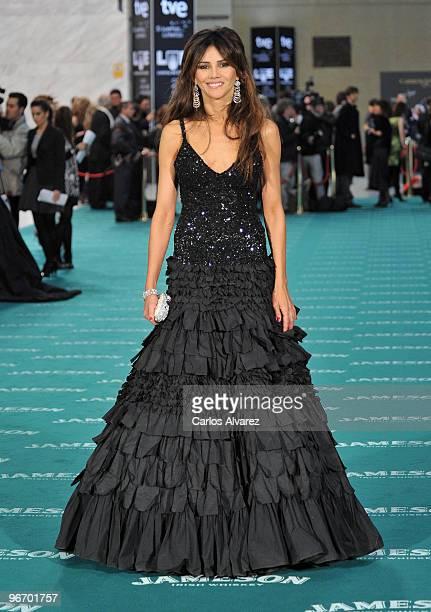 Spanish actress Goya Toledo attends Goya awards 2010 photocall at 'Palacio de Congresos' on February 14 2010 in Madrid Spain