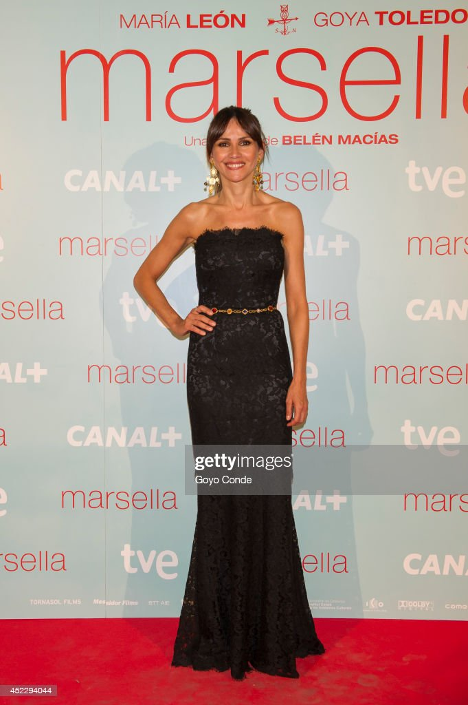 Spanish actress <a gi-track='captionPersonalityLinkClicked' href=/galleries/search?phrase=Goya+Toledo&family=editorial&specificpeople=577710 ng-click='$event.stopPropagation()'>Goya Toledo</a> attends 'Marsella' premiere at the Capitol cinema on July 17, 2014 in Madrid, Spain.