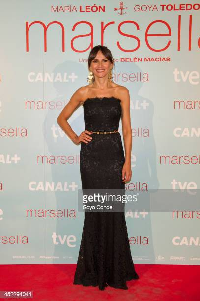 Spanish actress Goya Toledo attends 'Marsella' premiere at the Capitol cinema on July 17 2014 in Madrid Spain