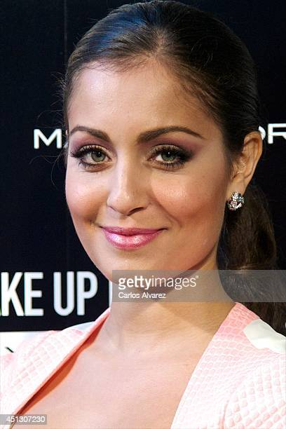 Spanish actress Hiba Abouk attends 'Make Up Party by Max Factor' photocall on June 27 2014 in Madrid Spain