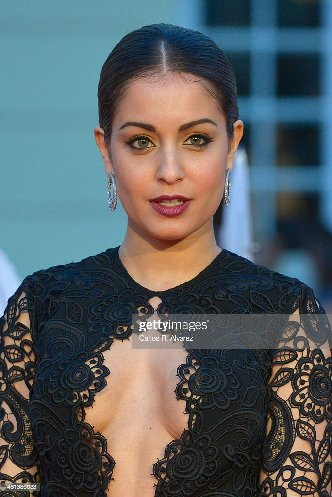 Spanish actress Hiba Abouk attends the 17th Malaga Film Festival 2014 closing ceremony at the Cervantes Theater on March 29, 2014 in Malaga, Spain.