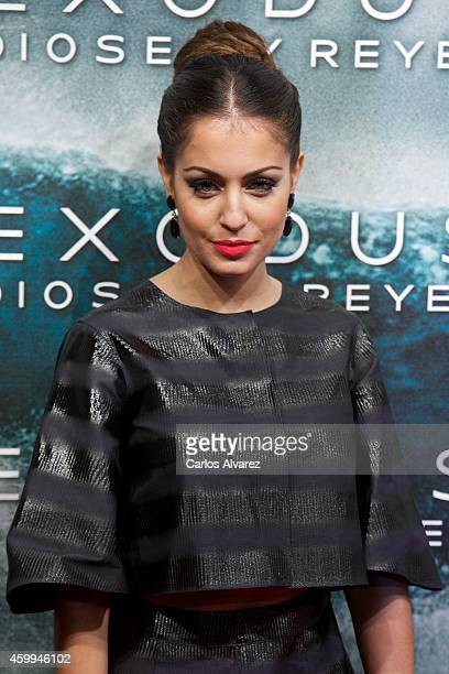 Spanish actress Hiba Abouk attends the 'Exodus Gods and Kings' premiere at the Kinepolis cinema on December 4 2014 in Madrid Spain