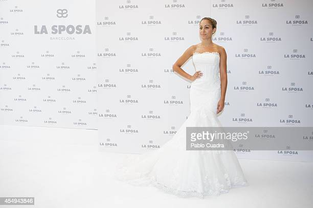 Spanish actress Hiba Abouk Presents 'La Sposa' New Collectionon September 8 2014 in Madrid Spain