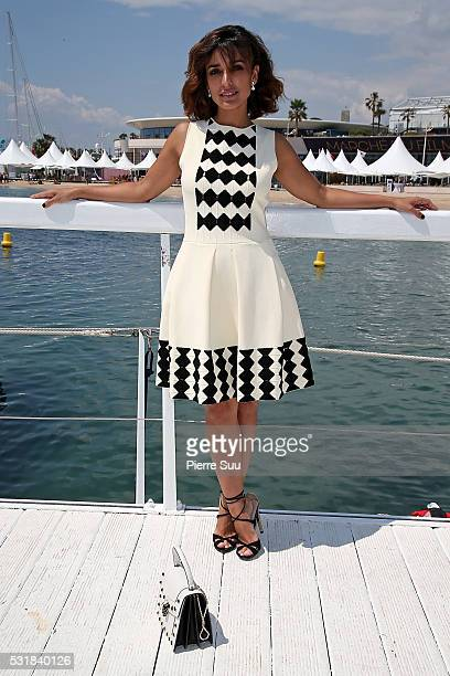 Spanish actress Imma Cuesta poses at the Majestic Hotel beach during the 69th Annual Cannes Film Festival on May 17 2016 in Cannes France