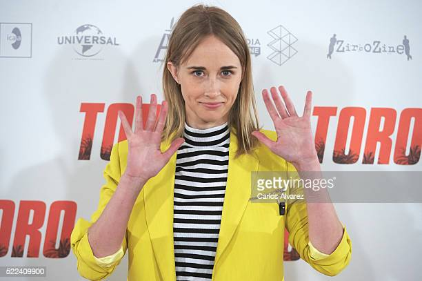 Spanish actress Ingrid Garcia Jonsson attends 'Toro' photocall on April 19 2016 in Madrid Spain
