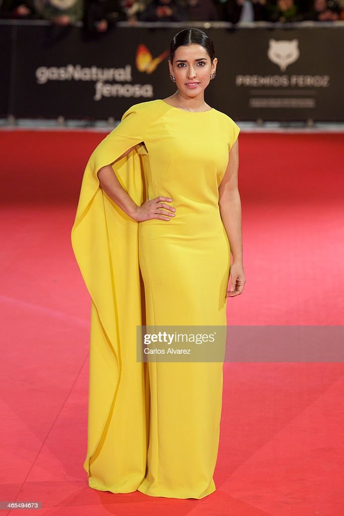 Spanish actress Inma Cuesta attends the 'Feroz' cinema awards 2014 at the Callao cinema on January 27, 2014 in Madrid, Spain.
