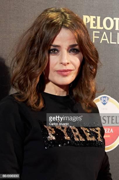 Spanish actress Inma del Moral attends 'El Pelotari Y La Fallera' premiere at the Callao cinema on April 5 2017 in Madrid Spain
