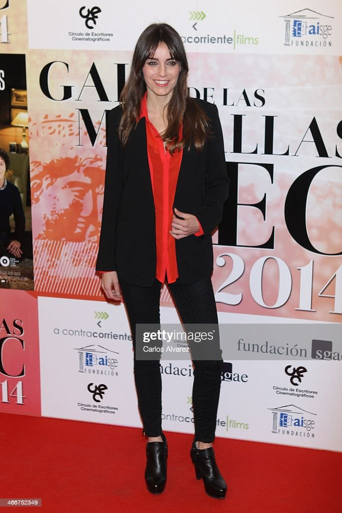 Spanish actress Irene Alonso attends the 'CEC' medals 2014 at the Palafox cinema on February 3, 2014 in Madrid, Spain.