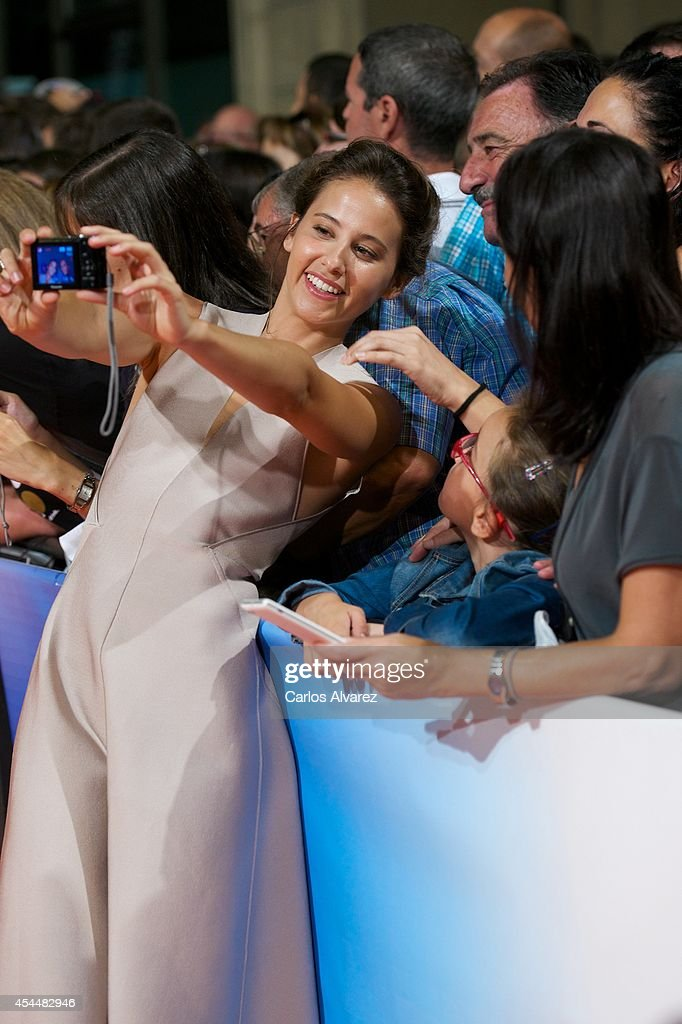 Spanish actress <a gi-track='captionPersonalityLinkClicked' href=/galleries/search?phrase=Irene+Escolar+-+Actress&family=editorial&specificpeople=4668702 ng-click='$event.stopPropagation()'>Irene Escolar</a> attends 'Isabel' 3th season premiere at the Principal Theater during the FesTVal 2014 day 1 on September 1, 2014 in Vitoria-Gasteiz, Spain.