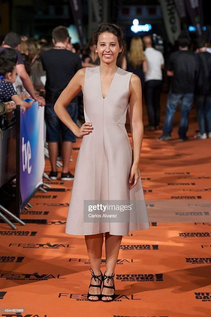 Spanish actress Irene Escolar attends 'Isabel' 3th season premiere at the Principal Theater during the FesTVal 2014 day 1 on September 1, 2014 in Vitoria-Gasteiz, Spain.