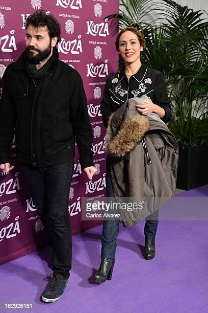 Spanish actress Irene Montala attends 'Cirque Du Soleil' Kooza 2013 premiere on March 1 2013 in Madrid Spain