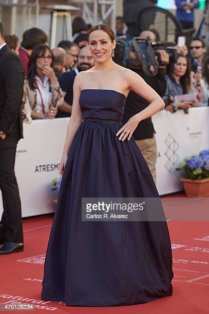 Spanish actress Irene Montala attends the 18th Malaga Film Festival opening ceremony at the Cervantes Theater on April 17 2015 in Malaga Spain