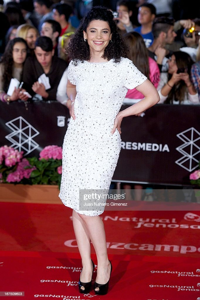 Spanish actress Irene Visedo attends 'Gala Premio Eloy de la Iglesia' during 16 Malaga Film Festival at Teatro Cervantes on April 25, 2013 in Malaga, Spain.