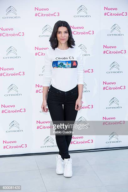 Spanish actress Irene Visedo presents 'Soundrise by Citroen C3' at Citroen store on December 16 2016 in Madrid Spain