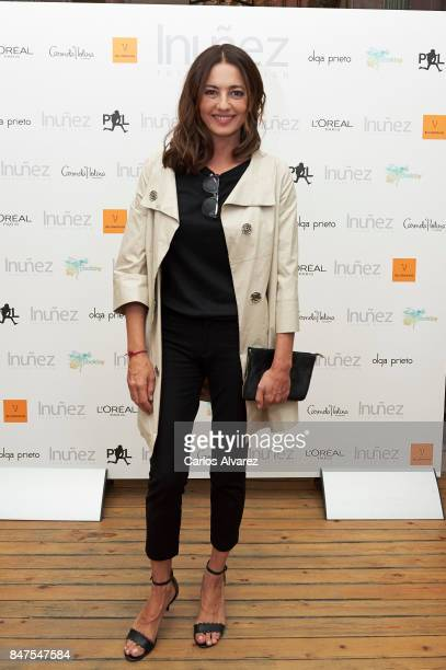Spanish actress Jose Toledo attends the Isabel Nunez show during MercedesBenz Fashion Week Madrid Spring/Summer 2018 on September 15 2017 in Madrid...