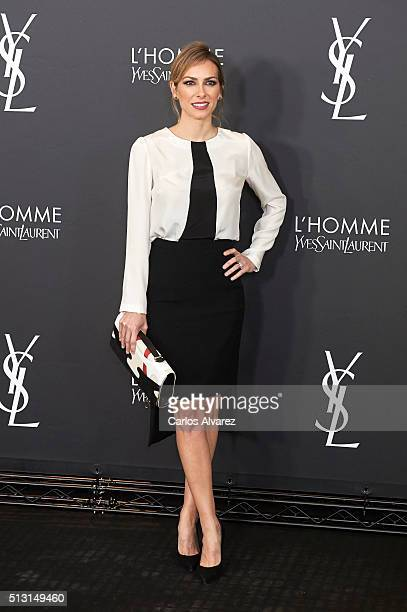 Spanish actress Kira Miro attends Yves St Laurent Beauty cocktail party on February 29 2016 in Madrid Spain