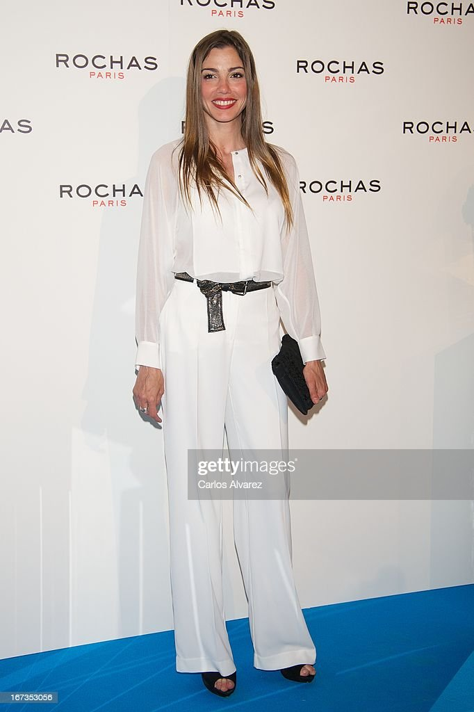 Spanish actress Laura More attends the Rochas event at the French embassy on April 24, 2013 in Madrid, Spain.