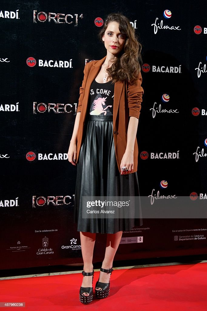 Spanish actress Leticia Dolera attends the 'REC 4' premiere at the Capitol cinema on October 27 2014 in Madrid Spain
