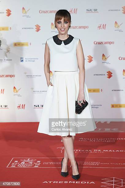 Spanish actress Leticia Dolera attends the 'Requisitos Para Ser Una Persona Normal' premiere at the Cervantes Theater during the 18th Malaga Film...