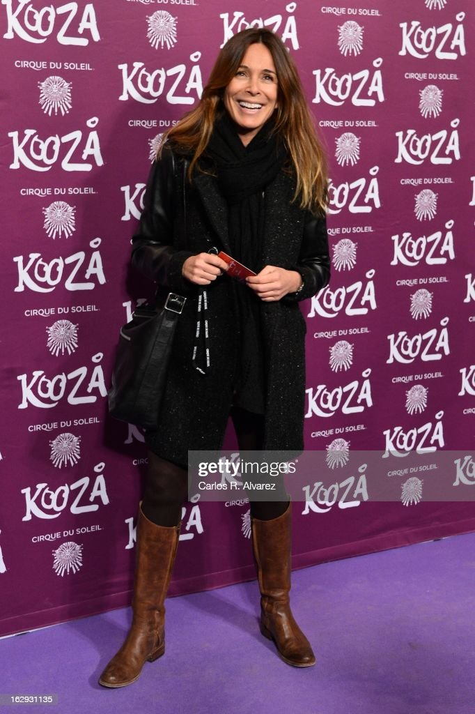 Spanish actress Lidia Bosch attends 'Cirque Du Soleil' Kooza 2013 premiere on March 1, 2013 in Madrid, Spain.