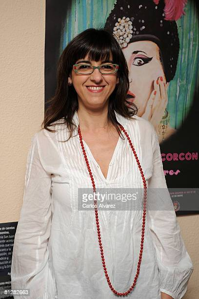 Spanish actress Llum Barrera attends 'La Terremoto De Alcorcon Precios Populares' Premiere on May 29 2008 at the Arlequin Theatre in Madrid Spain