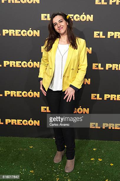 Spanish actress Llum Barrera attends the 'El Pregon' premiere at the Capitol cinema on March 16 2016 in Madrid Spain
