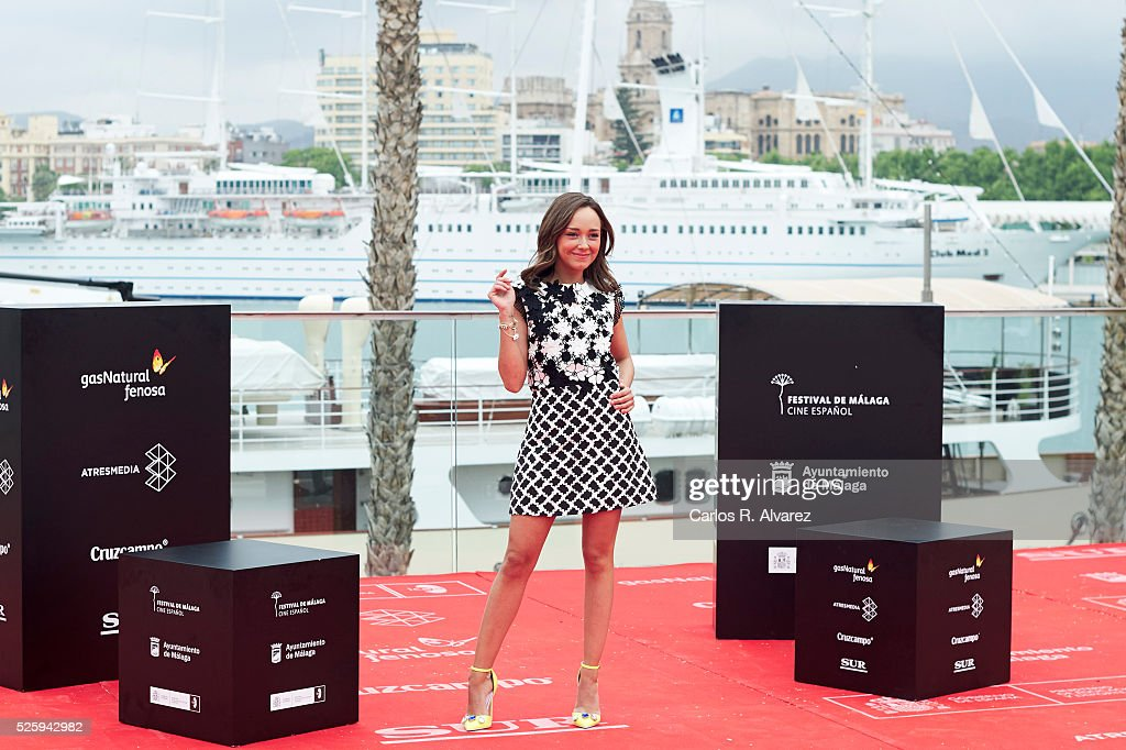 Spanish actress Lucia de la Fuente attends 'El Futuro Ya No Es Lo Que Era' photocall during the Malaga Film Festival on April 29, 2016 in Malaga, .