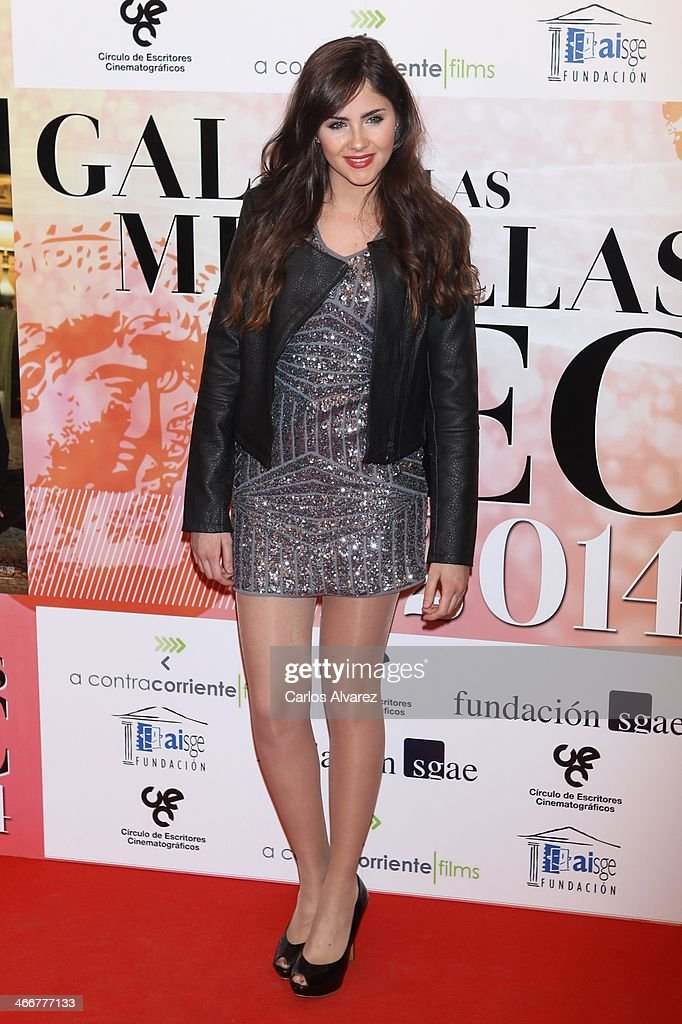 Spanish actress Lucia Ramos attends the 'CEC' medals 2014 at the Palafox cinema on February 3, 2014 in Madrid, Spain.