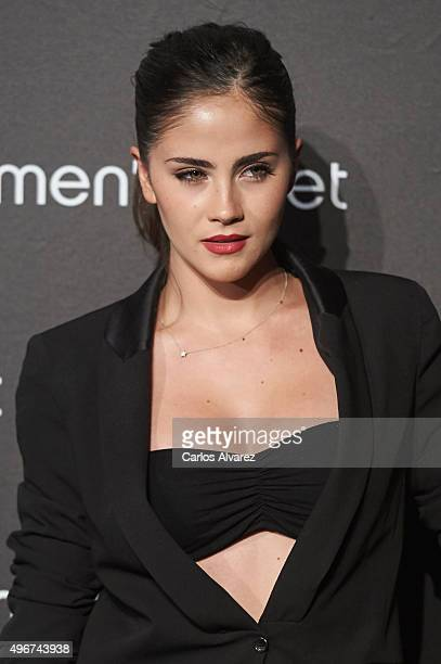 Spanish actress Lucia Ramos attends the Women'secret Videoclip presentation at the La Riviera Club on November 11 2015 in Madrid Spain