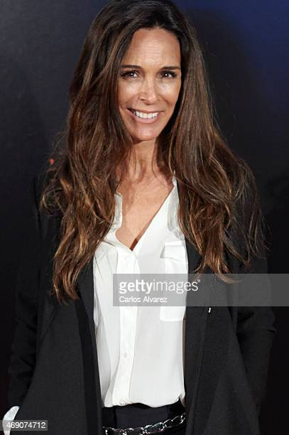 Spanish actress Lydia Bosch attends 'Felices 140' premiere at the Capitol cinema on April 9 2015 in Madrid Spain