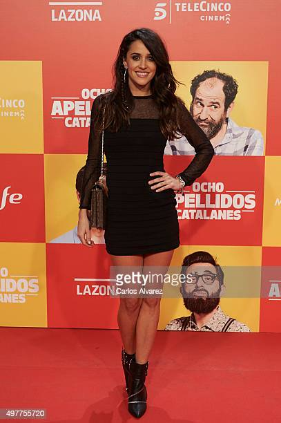 Spanish actress Macarena Garcia attends the 'Ocho Apellidos Catalanes' premiere at the Capitol cinema on November 18 2015 in Madrid Spain