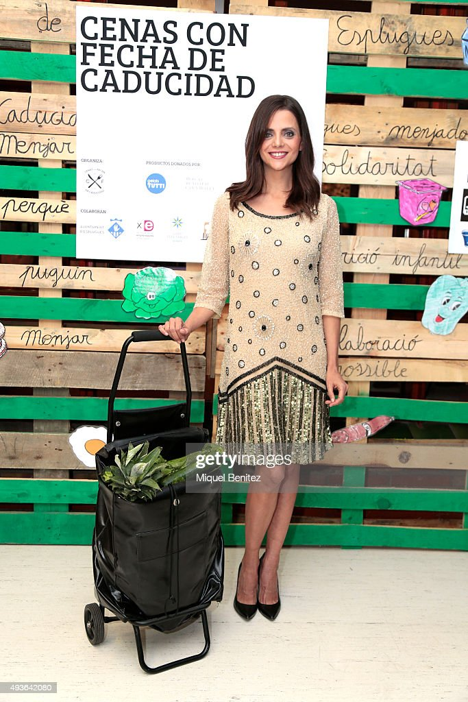 Spanish actress Macarena Gomez attends a charity dinner 'Cenas con Fecha de Caducidad', 'Dinners with Expiration Date' in favor of grants for food from EDUCO at the Garbi School on October 21, 2015 in Barcelona, Spain.