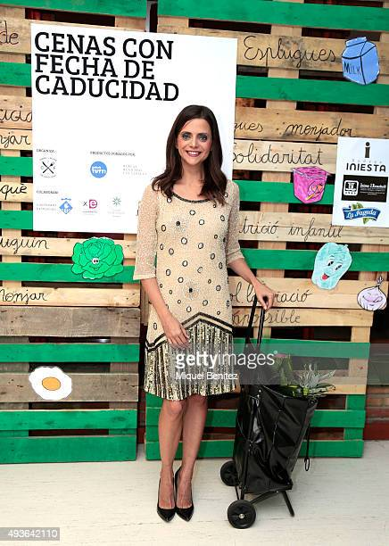 Spanish actress Macarena Gomez attends a charity dinner 'Cenas con Fecha de Caducidad' 'Dinners with Expiration Date' in favor of grants for food...