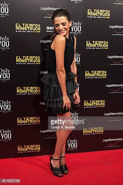 Spanish actress Macarena Gomez attends 'El Tiempo De Los Monstruos' premiere at Palacio de la Prensa cinema on September 28 2016 in Madrid Spain