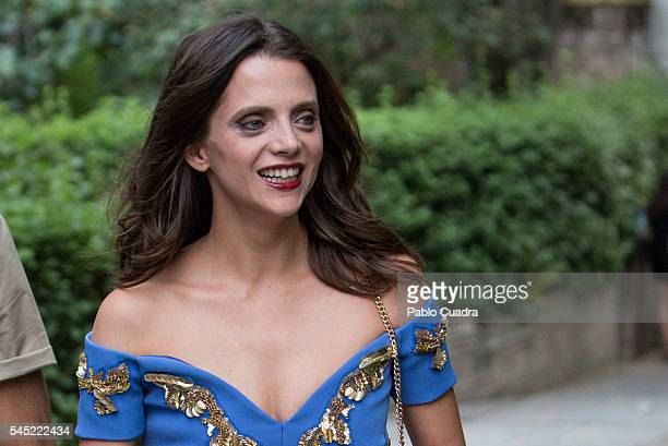 Spanish actress Macarena Gomez attends the Dewar's Scotch Egg Club opening party at the Real Fabrica de Tapices on July 6 2016 in Madrid Spain