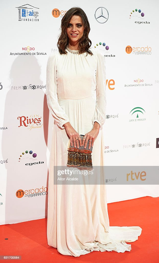 Spanish actress Macarena Gomez attends the Jose Maria Forque Awards 2016 at Teatro de la Maestranza on January 14, 2017 in Seville, Spain.