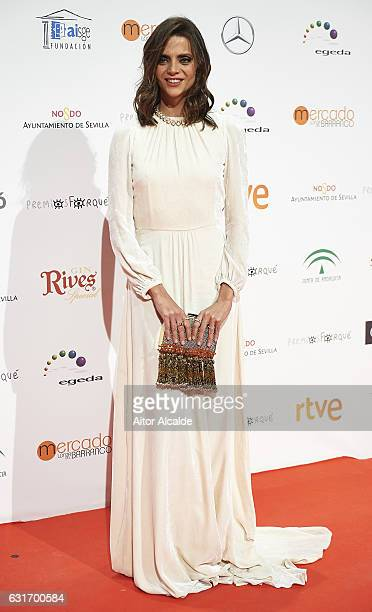 Spanish actress Macarena Gomez attends the Jose Maria Forque Awards 2016 at Teatro de la Maestranza on January 14 2017 in Seville Spain