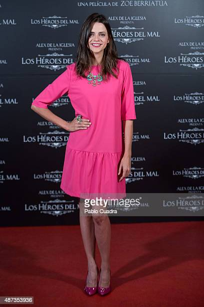 Spanish actress Macarena Gomez attends the 'Los Heroes del Mal' photocall at Sony Pictures office on September 9 2015 in Madrid Spain