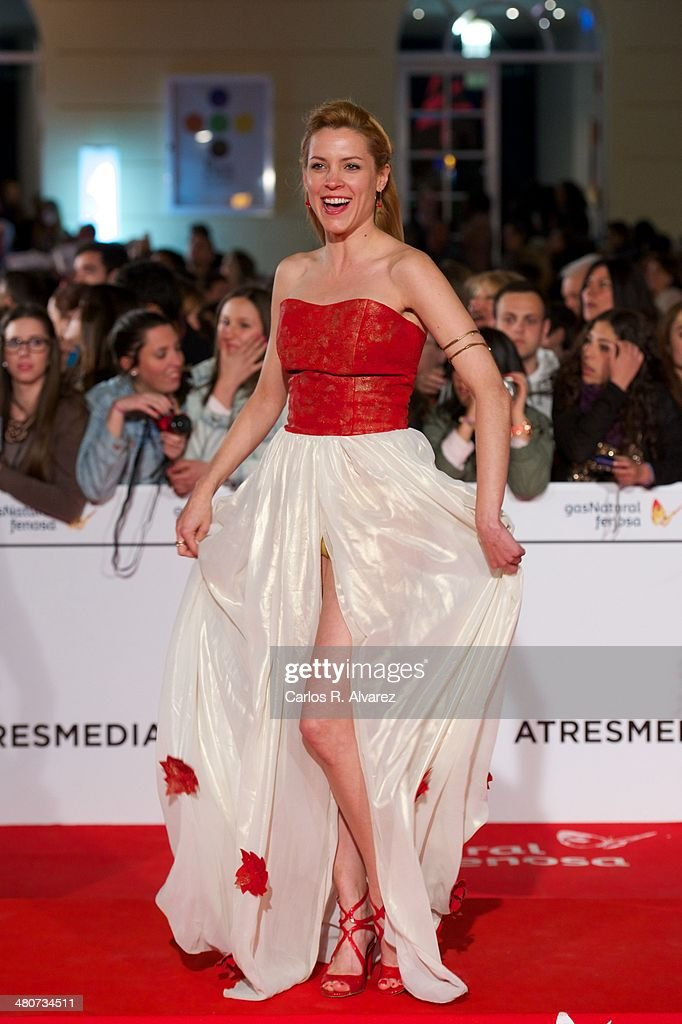 Spanish actress Maggie Civantos attends the 'Por un Punado de Besos' premiere during the 17th Malaga Film Festival 2014 - Day 6 at the Cervantes Theater on March 26, 2014 in Malaga, Spain.