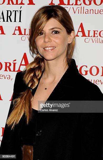 Spanish actress Manuela Velasco attends Concha Velasco's birthday party at Alegoria Club on November 24 2009 in Madrid Spain