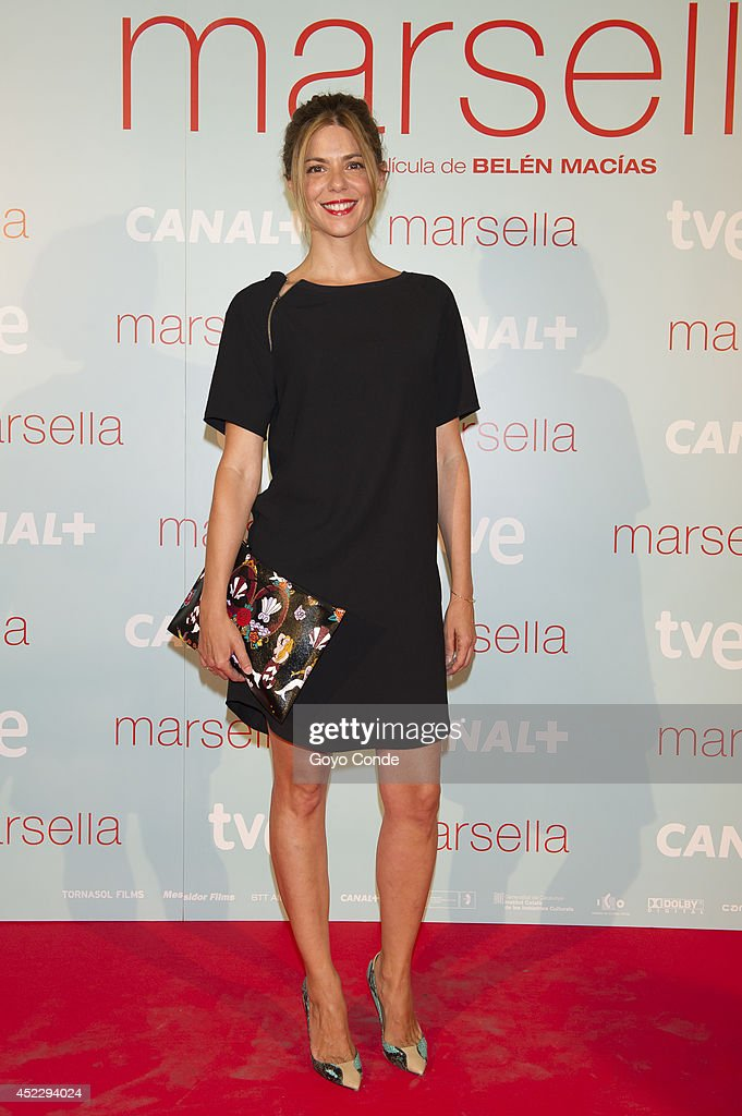 Spanish actress <a gi-track='captionPersonalityLinkClicked' href=/galleries/search?phrase=Manuela+Velasco&family=editorial&specificpeople=4475762 ng-click='$event.stopPropagation()'>Manuela Velasco</a> attends 'Marsella' premiere at the Capitol cinema on July 17, 2014 in Madrid, Spain.
