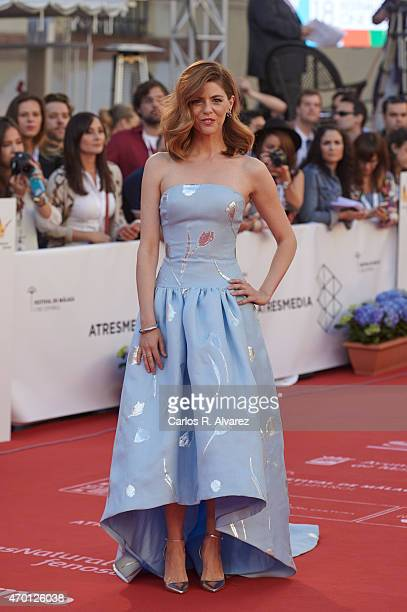 Spanish actress Manuela Velasco attends the 18th Malaga Film Festival opening ceremony at the Cervantes Theater on April 17 2015 in Malaga Spain