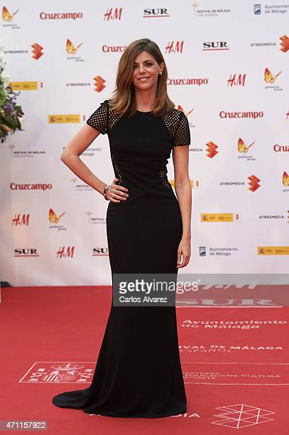 Spanish actress Manuela Velasco attends the 18th Malaga Spanish Film Festival close ceremony at the Cervantes Theater on April 25 2015 in Malaga Spain