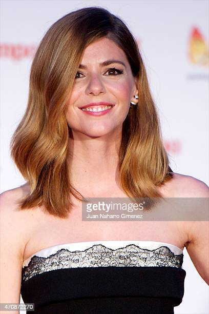 Spanish actress Manuela Velasco attends the 'A Cambio de Nada' premiere at the Cervantes Theater during the 18th Malaga Film Festival on April 23...