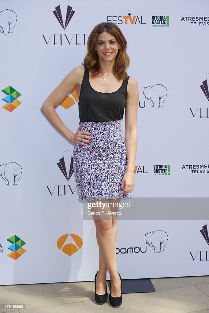 Spanish actress Manuela Velasco attends the 'Galerias Velvet' new season presentation during the day three of 5th FesTVal Television Festival 2013 at the Villa Suso Palace on September 4, 2013 in Vitoria-Gasteiz, Spain.