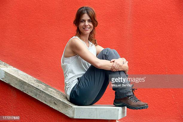 Spanish actress Manuela Velasco poses on the set of their latest movie 'Rec 4 Apocalipsis' being filmed at Parc Audiovisual de Catalunya on August 22...